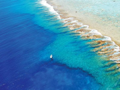 Reven runt ön erbjuder en färggrann undervattensvärld.