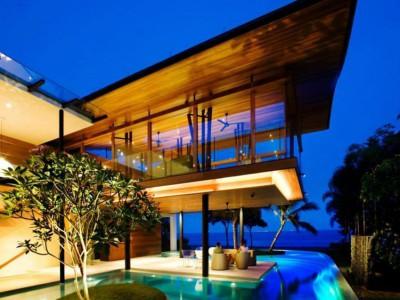 Konstgjorda öar ger poolen karaktär Projekt: Fish House av Guz Architects