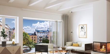 Brahe Suites – från vindsvåningen ser man ut över staden