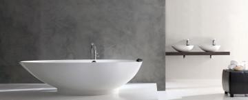 Lyxiga badrum behöver fristående badkar.