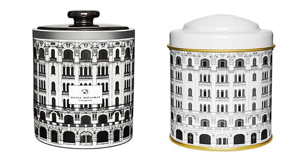 Hotel Diplomat har eget doftljus + te