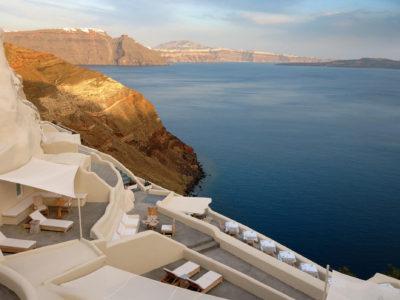 Lyxiga Mystique på ön Santorini