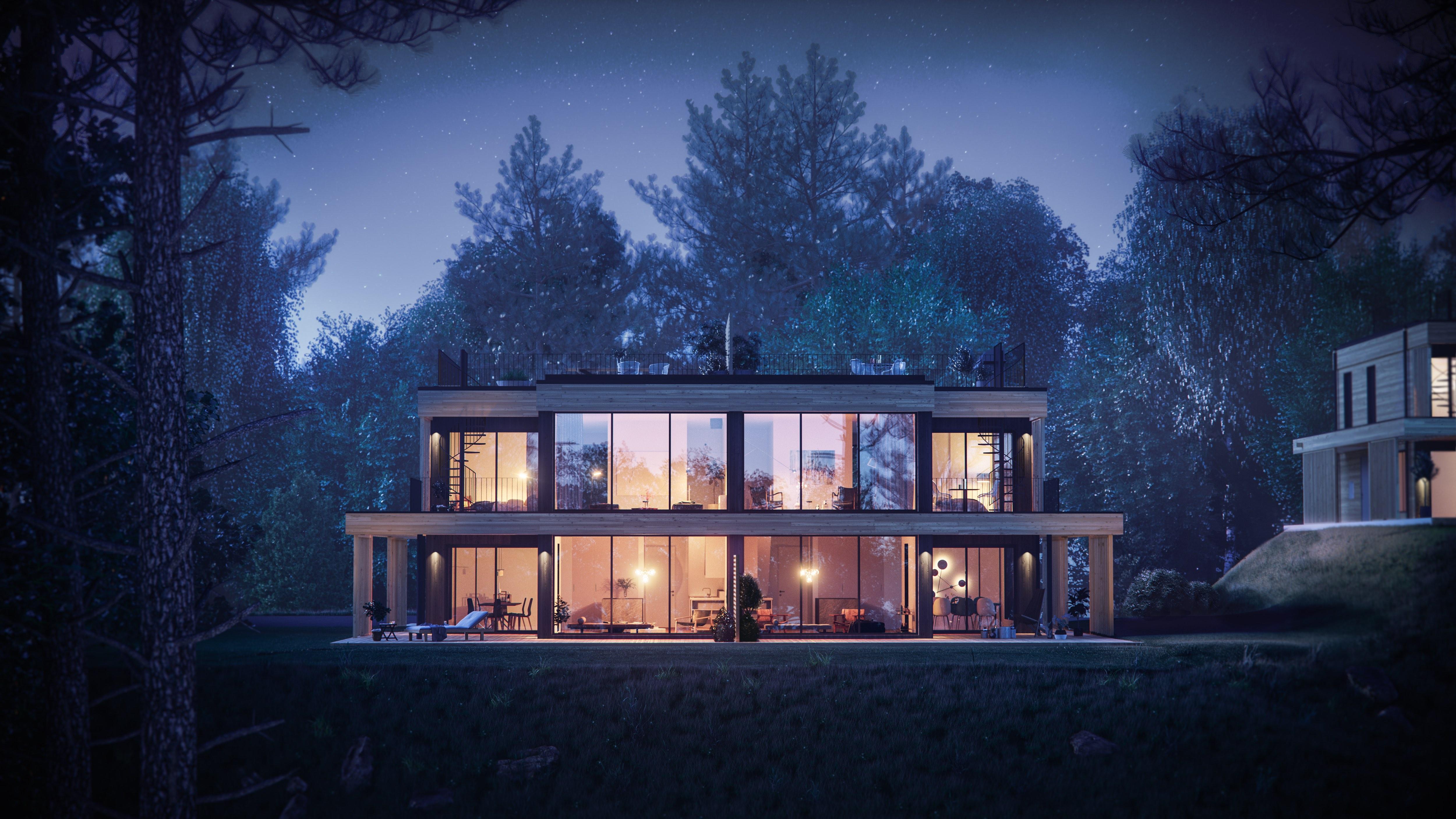 Arkitektritade moderna parhus i Strömma kanal - Värmdö - av Innovation Properties
