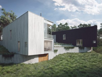 Pyrus 9 och 10 skapade av Ström Architects och Imola bostad. Ett nytt byggprojekt på Lidingö med moderna och exklusiva villor.