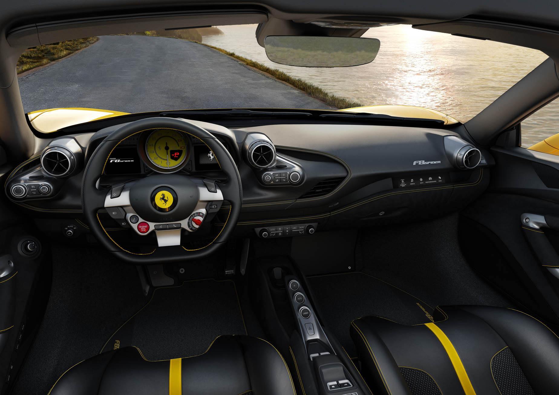Ferrari F8 Spider. Här hittar du exklusiva lyxbilar i Stockholm.