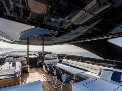 Riva 110 Dolcevita. På HOOM presenterar vi stora och lyxiga båtar.