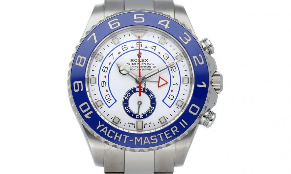 Rolex Yacht-Master II Vit/Stål Ø44 mm ref. 116680-0002