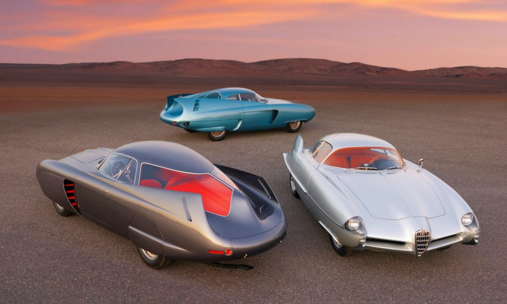 Exklusiva bilar på auktion. Futuristiska konceptbilar från Alfa Romeo.