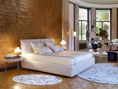 Sängen En-Tete från exklusiva Roche Bobois. Perfekt för dig som vill ha en exklusiv säng i ett exklusivt sovrum.