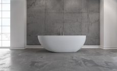 Badkaret Hammershus från Copenhagen Bath. Ett fristående badkar som kan lyfta ett badrum. Exklusiva badkar med en matt finish.