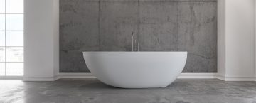 Badkaret Hammershus från Copenhagen Bath. Ett fristående badkar som kan lyfta ett badrum. Exklusiva badkar med en matt finish.