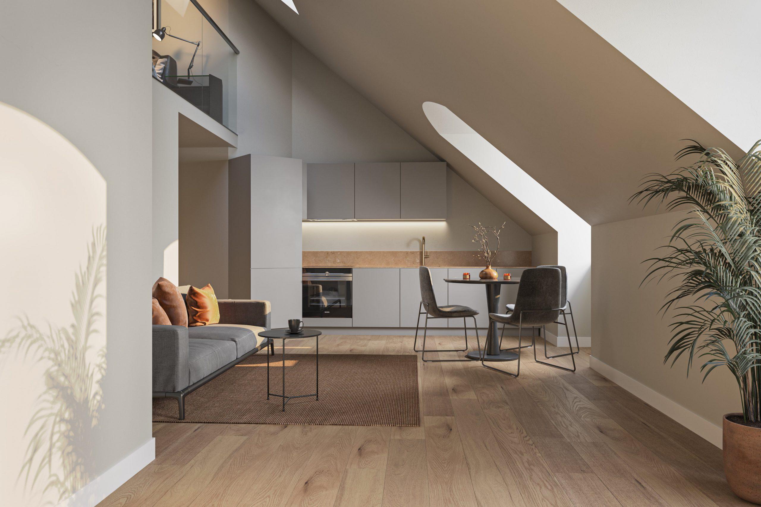 Simon Crest är specialiserad på exklusiva lägenheter och vindsvåningar.