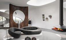 Formsköna Infinito är designad av Marcantonio för italienska Natuzzi