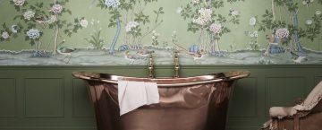 Fristående badkar i koppar. Gammaldags design. Perfekt för ett lite mer exklusivt badrum