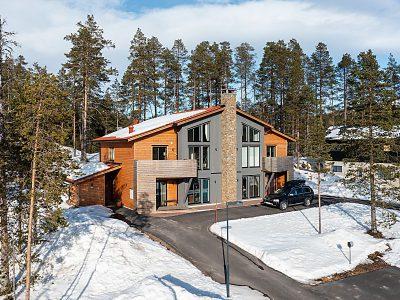 När du letar drömboende i fjällen. Härliga hus med nära till backe och natur.