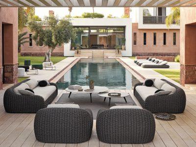 En exklusiv utemöbler som passar perfekt i din trädgård eller runt poolen.